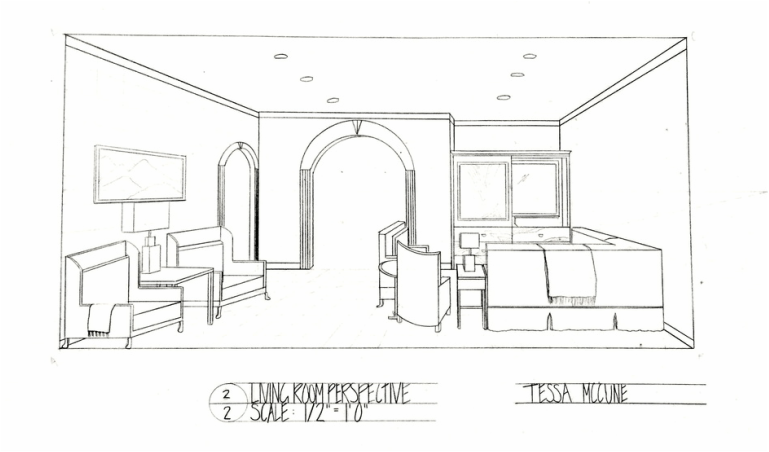 Portfolio tessa mccune for Living room 2 point perspective